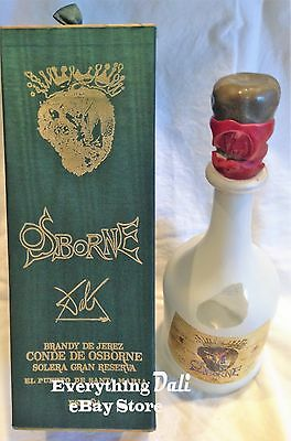 1964 Limited Edition Conte de Osborne Brandy Bottle Designed By Salvador Dali