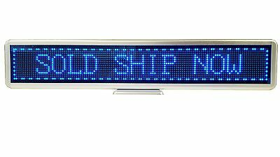 Programmable Scrolling SMD Dot Matrix LED Mini Display 16x128 pixels, Blue