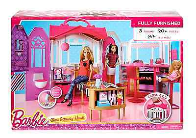 NEW Barbie Glam Getaway House Open and Unfold Fun Toy Ages 3 and Older