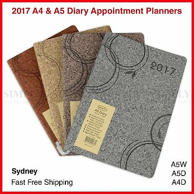 2017 Diary Planner Diaries Appointment Corkboard Soft - A4 A5 Day To A Page Week