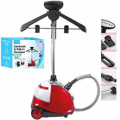 1800W Professional Fabric Clothes Garment Silk Steamer Iron Heat + Attachments