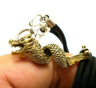 Chinese Dragon Pendant Power Protection Rich Luck Win Money Amulet Gift Necklace