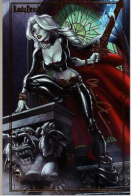 LADY DEATH SDCC 2016 CHAOS RULES #1 by J. SCOTT CAMPBELL &  SIGNED BRIAN PULIDO