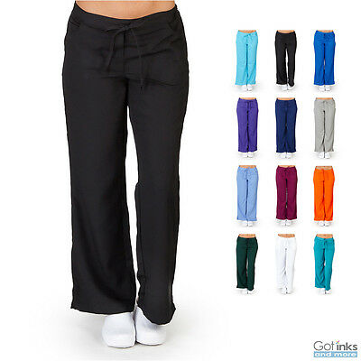 Women's UltraSoft 5-Pocket Drawstring Elastic Waist Scrub Pants Nursing Uniform