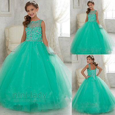 New Flower Girl Dress Communion Party Prom Princess Pageant Bridesmaid Wedding