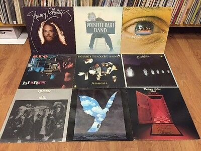 x9 ROCK VINYL LP LOT/COLLECTION : Rascals Queen Pousette-Dart MORE