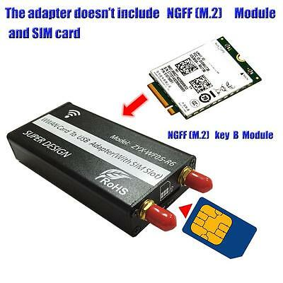 NGFF(M.2) to USB Adapter With SIM card Slot for WWAN/LTE/4G Module