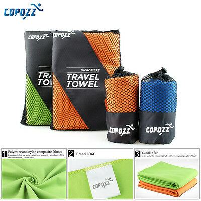 Copozz Sports Camping Microfiber Quick-Drying Shower Travel Swim Beach Towel S/L