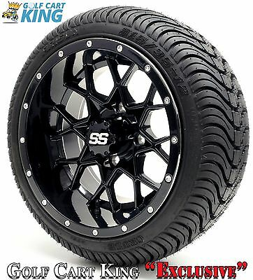 "Golf Cart 12"" Vortex SS Wheel/Rim and (215/35-12 or 215/50-12) DOT Tire Combo"