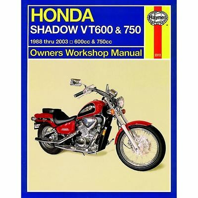 Workshop Manual Honda VT600, VT750 Shadow 1988-2008