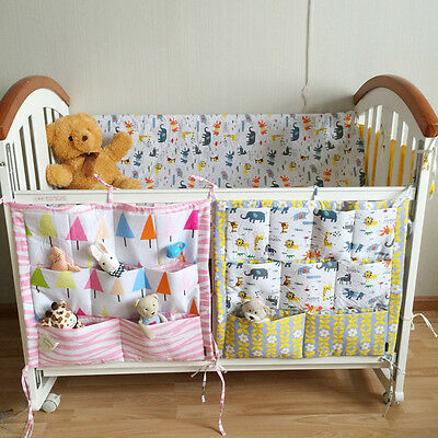 Baby Cot Bed Cradle Crib Hanging Storage Bag Nursery Diaper Toy Pocket Organizer