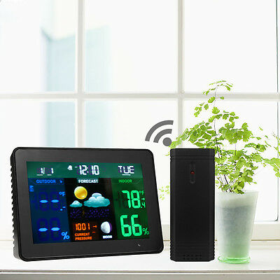 Wireless LED Color Weather Station Indoor/Outdoor Forecast Temperature Humidity