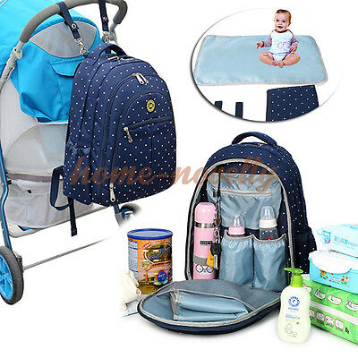 UK Large Baby Diaper Nappy Changing Rucksack Mummy Stroller Hanging Bag Backpack