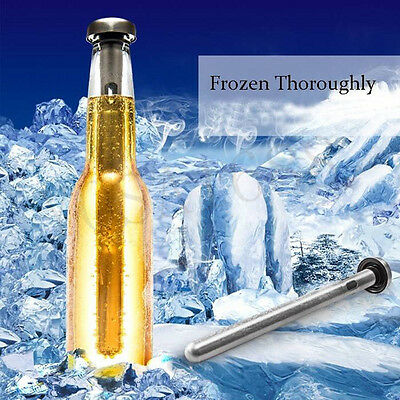 1x Stainless Steel Beer Red Wine Cooling Stick Beverage Stick Chiller Cooler Bar