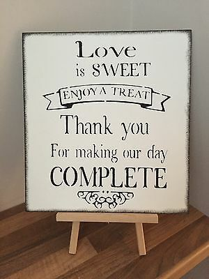 Wooden Party Wedding Sign Sweet Treat Table Shabby Chic decoration reception