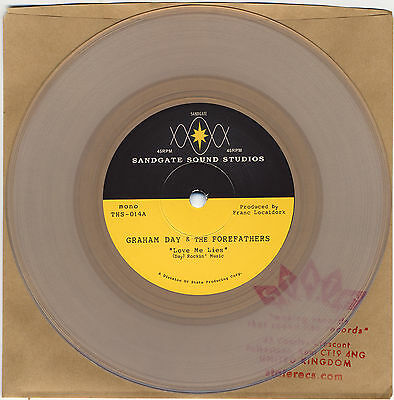 """GRAHAM DAY & THE FOREFATHERS Love Me Lies UK clear vinyl 7"""" NEW Prisoners psych"""