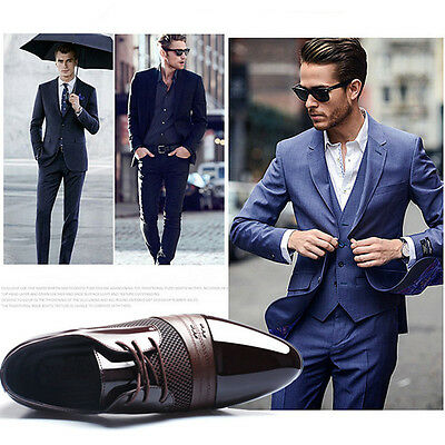 New Fashion Business Men's Leather shoes Oxfords Dress Formal Casual Plus Size