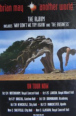 "40x60"" SUBWAY POSTER~Brian May of Queen 1998 Another World Tour Concert Dates~"