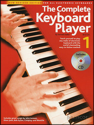 The Complete Keyboard Player 1 Music Book/CD Learn to Play Method for Beginners