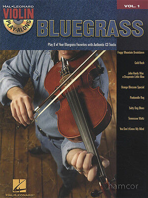 Bluegrass Violin Play-Along Volume 1 Sheet Music Book & Backing Tracks CD Fiddle
