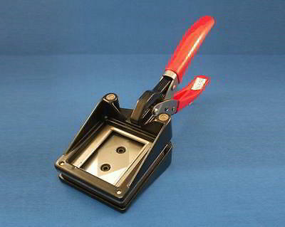 Hand Cutter. Cuts 35 x 24mm. Perfect for making your own keyrings,