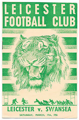 Leicester v Swansea, 1955/56 - Match Programme