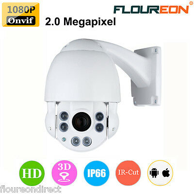 1080P 2MP HD PTZ 3D 10XZOOM CCTV ONVIF Day/Night Dome Outdoor Security IP Camera
