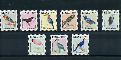 Kenya 2015 MNH Birds Definitives 7th Series 9v Set R/P Eagles Flamingos Sunbirds