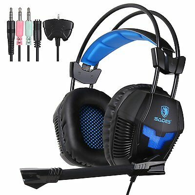 Sades SA-921 Gaming Headset cellphone headphone for PS4 Xbox360 Phone PC Laptop
