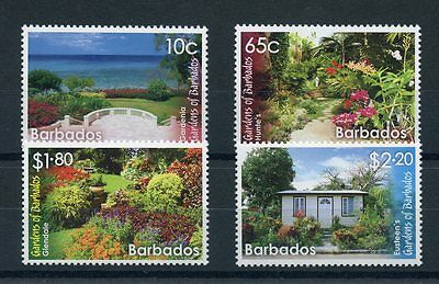 Barbados 2014 MNH Gardens of Barbados 4v Set Flowers Gardenia Glendale Stamps