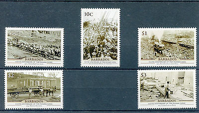 Barbados 2014 MNH Panama Canal 100th Anniv 5v Set Ships SS Ancon Stamps