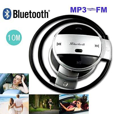 Bluetooth Stereo Wireless Headset Sports Headphones Handsfree For Samsung iPhone