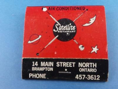 Satellite Restaurant Brampton Ontario Canada Advertising Vintage Matchbook