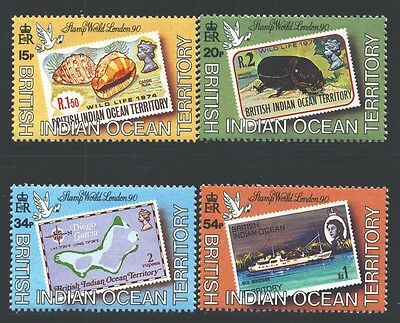BRITISH INDIAN OCEAN TERRITORY Sc90-93 SG102-05 MNH 1990 Show set of 4 SCV$39