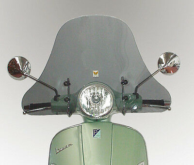"Windshield -clear- for Vespa Piaggio  LX 50 | 125 | 150 - 2005 > ""S300T-A/727"""