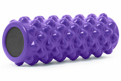 "ProSource Bullet Sports Muscle Therapy Firm Massage Foam Roller 14""x 5"" Purple"