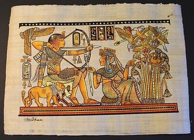 King Tut Ank Amon and His Wife In Hunting During The Honey Moon