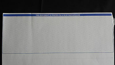 500 Blank Laser Security Checks - Stock Paper (BLUE) - Check on Top