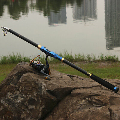Travel Fishing Tackle Telescopic Saltwater Freshwater Fishing Rod and Reel Combo