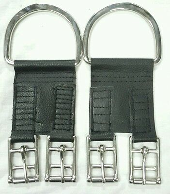 Leather & Stainless Steel Buckles Converter English Saddle to use Western Girth