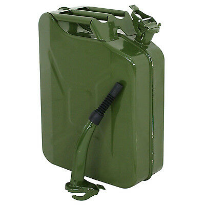 Segewe Jerry Can 5 Gallon Gas Fuel NATO Military Metal Steel Tank Prepper 20L