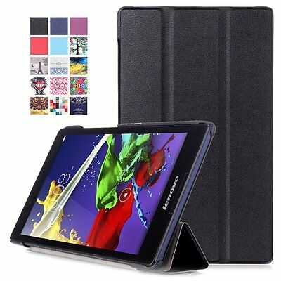 Magnetic Leather Cover Case for Lenovo Tab3 8 (TB3-850F/M)/ Tab 2 A8-50 8.0 inch