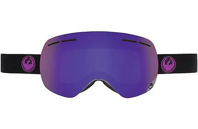 2016 Dragon X1s Frameless Snow Goggles Jet - Purple Ion + Yellow Red Ion Lens