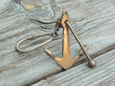 Beautiful Brass Ship Anchor Key Chain & Antique Finish