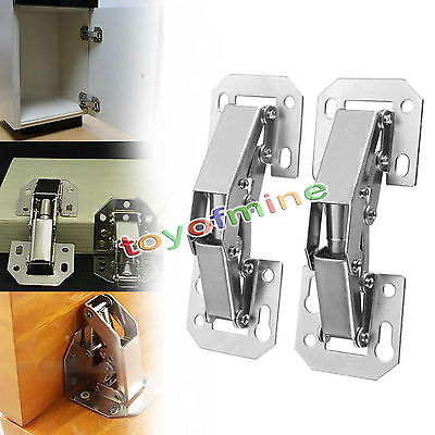 B&Q Concealed sprung 35mm Nickel Plated Hinges Kitchen X5 • £2.00 ...