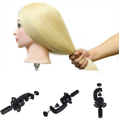 Salon Hair Mannequin Table Clamp Stand Hairdressing Training Head Holder