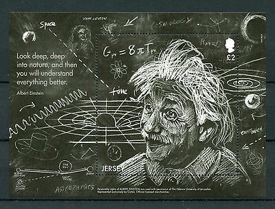 Jersey 2016 MNH Einstein Theory of General Relativity 1v M/S Science Stamps