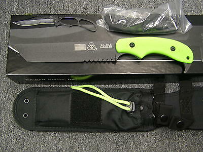 Kabar 5700 Famine Tanto Combo Edge Fixed Blade Knife. This Is The New Us Made.