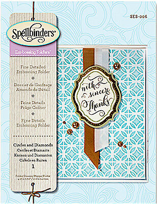 Spellbinder Em-Bossing Folder ~Circles And Diamonds Ses-006