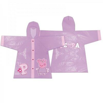 PEPPA PIG Chubasquero Impermeable violeta/rosa// Purple Raincoat